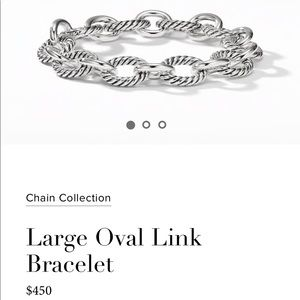 David Yurman large oval link bracelet